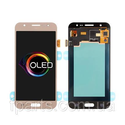 Дисплей для Samsung J500 Galaxy J5 с тачскрином, Gold (OLED), фото 2