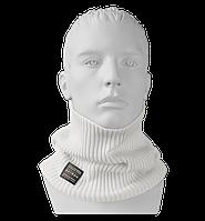 Шарф Бафф (Снуд) мужской вязаный Elf белый, Oxygon Россия