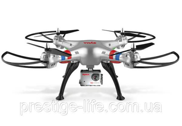 Квадрокоптер Syma X8G с гироскопом и HD камерой на аккумуляторе