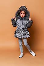 Детская куртка для девочки Верхняя одежда для девочек Artigli Италия А03751 Серый
