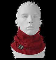 Шарф Бафф (Снуд) мужской вязаный Elf красный, Oxygon Россия