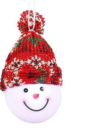 """Декоративная фигурка """"Снеговик"""", диам.7,5 см., """"Luca Lighting"""", красная, зеленая, фото 2"""