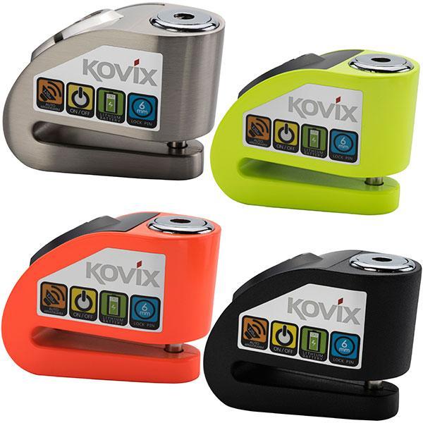 KOVIX KD6 замок с сигнализацией на тормозной диск мотоцикла