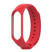 Ремешок для фитнес - трекера Xiaomi Mi Band 3/4 Band Красный, фото 1