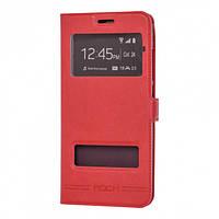 Чехол книжка Rock View Cover для Samsung Galaxy J3 J300 / J3 2016 J310 J320 красный