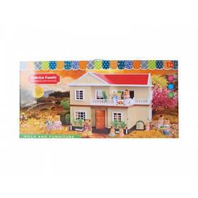 Игровой домик Животные флоксовые Happy Family 1514 с мебелью