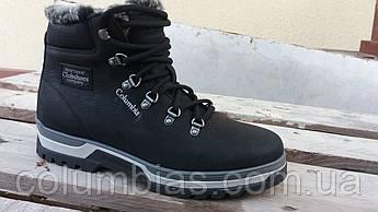 Кожаные меховые зимние ботинки columbia choes