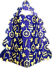Новогодняя Упаковка для корпоративных подарков ОПТом ЯЛИНКА Синя на 450г