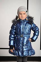 Детская куртка для девочки Верхняя одежда для девочек Pezzo D'oro Италия S06 K61035 Синий