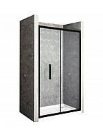 Душова двері складається Rapid Fold 80 Чорний матовий, фото 1
