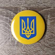 Значок с изображением Малого Герба Украины