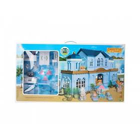 Игровой домик Животные флоксовые Happy Family 012-11 с мебелью и фигурками