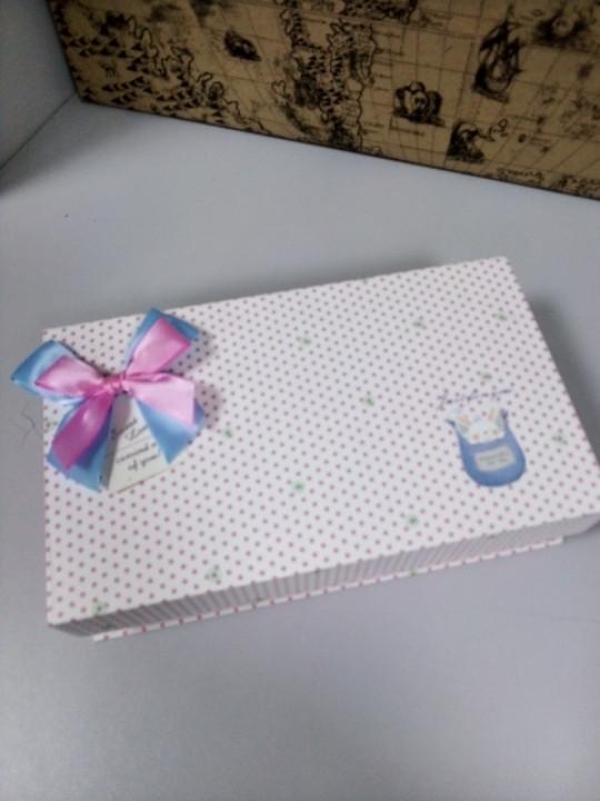 Подарочная коробочка прямоугольная 23.5 см крышка на магните