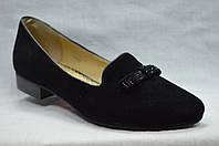 Туфли замшевые низкий каблук. Маленькие размеры.