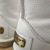 Натуральная кожа Угги UGG кожаные детские угги БЕЛЫЕ сапожки ботинки уггі дитячі шкіряні, фото 2
