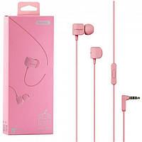 Наушники Remax RM-502 Earphone Розовые