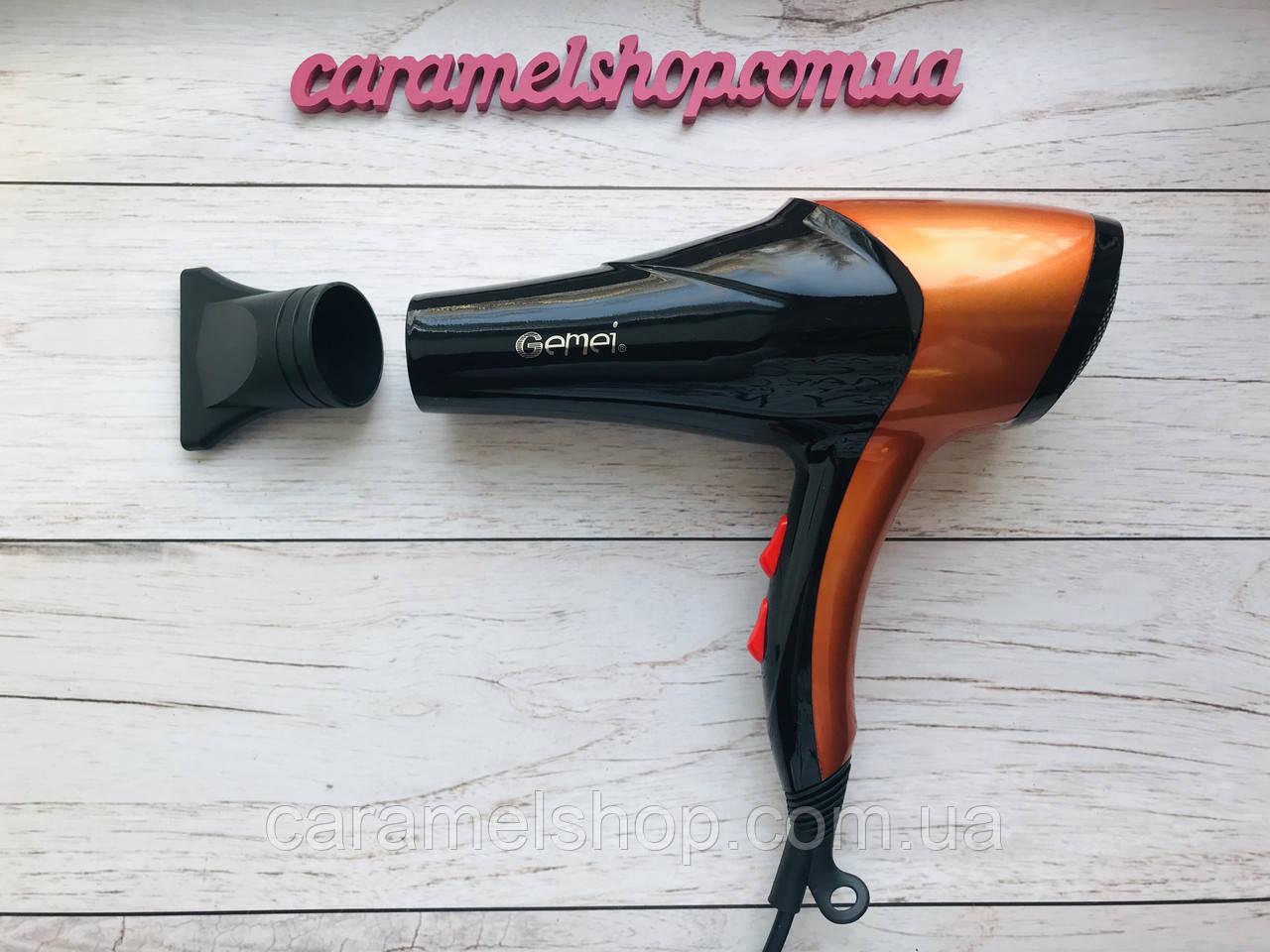 Фен для волос профессиональный GEMEI GM-1766 2600 Вт