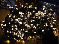 """Гирлянда светодиодная нить """"Конус"""" 6м,100 led  черный провод - цвет тепло-белый"""