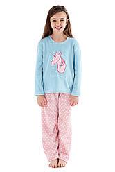 Пижама для девочки с единорогом серия мама-дочка .Англия из флиса!