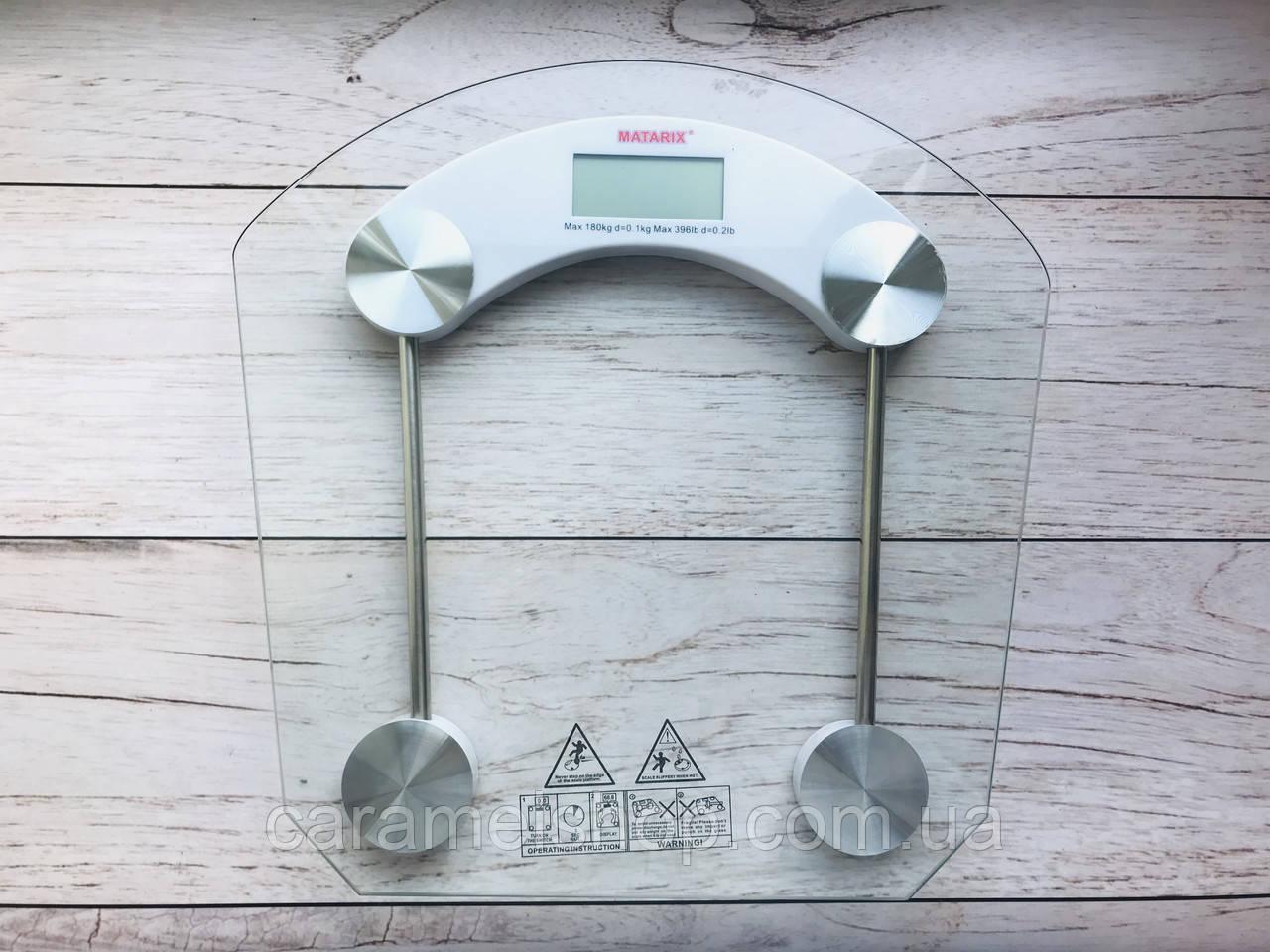 Весы напольные прозрачные MATARIX MX-451B max 180 кг
