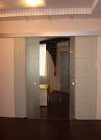 7 Раздвижные двери из стекла с матовым рисунком для дома