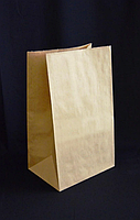 Бумажный пакет 150х90х240 с квадратным дном ( Коричневый )