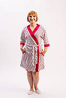 Стильный женский велюровый халат на запах батальные размеры от производителя