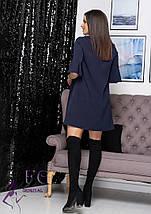 Платье с воланами на рукавах K трапециевидного фасона, фото 3