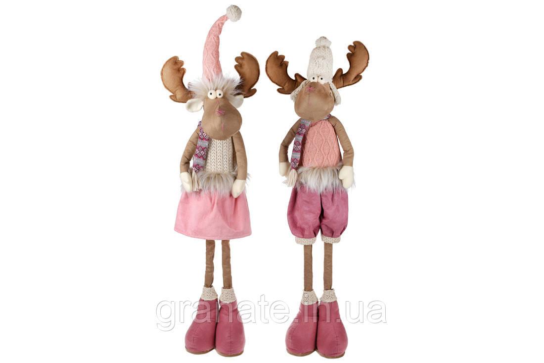 """Новогодняя мягкая кукла """"Олень"""" 105 см, 2 вида"""
