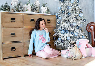 Уютная пижама из плюша с единоргом. Англия. Selena Secrets LN000842