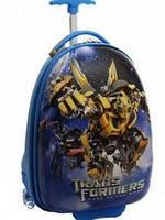 """Детский чемодан для мальчика трансформеры Бамбли на 2 колесах """"TR""""L 16"""" 0666"""