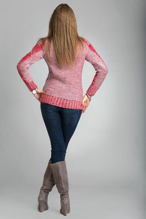 0551a076c8a Теплый вязаный свитер с воротником под горло от оптово-розничного ...