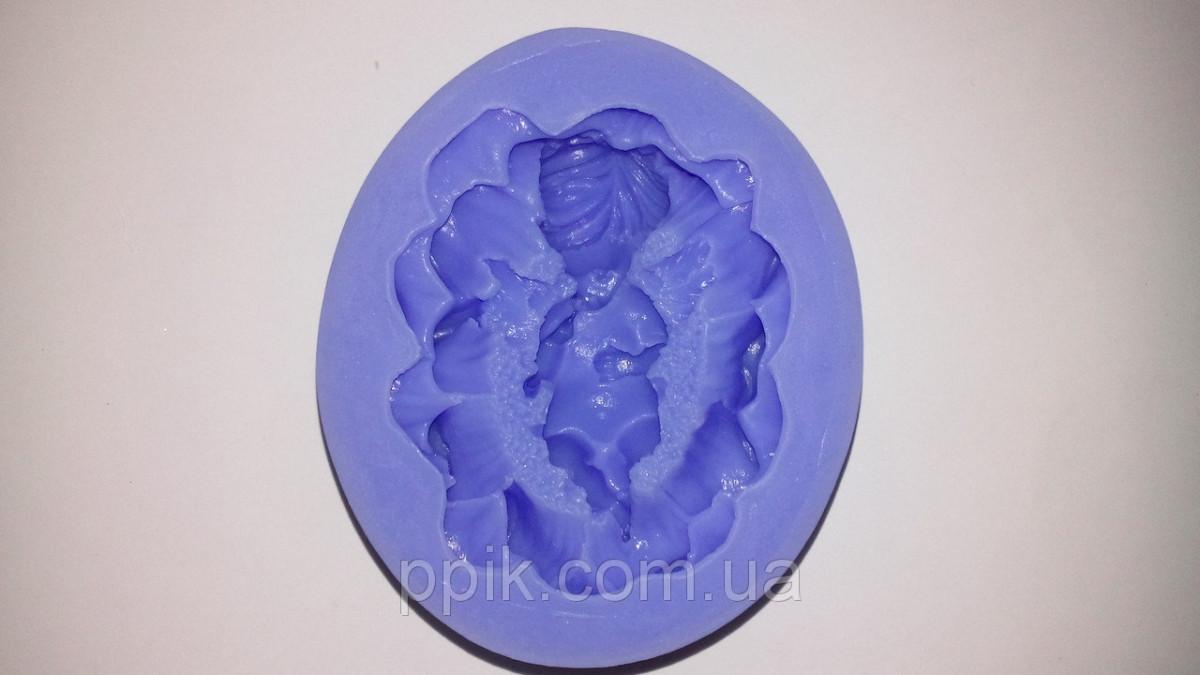 Молд силиконовый младенец в цветке