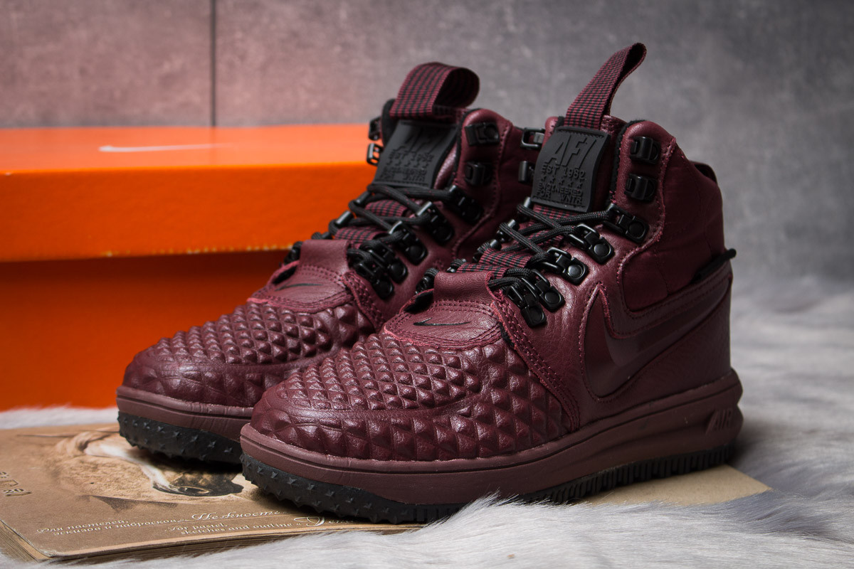 Зимние женские кроссовки 30926, Nike LF1 Duckboot, бордовые ( 36  )