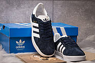 Кроссовки женские 15063, Adidas Gazelle, темно-синие ( 39  ), фото 3
