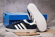 Кроссовки женские 15063, Adidas Gazelle, темно-синие ( 39  ), фото 4
