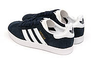 Кроссовки женские 15063, Adidas Gazelle, темно-синие ( 39  ), фото 8