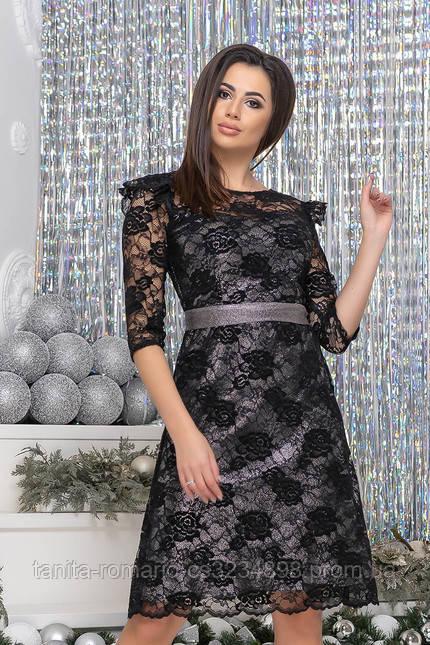 Коктейльное платье 9237 Черный