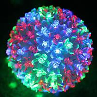Светодиодный 50 led светильник украшение Kronos Toys Рождественский цветочный шар 10 см мультиколор 220 В