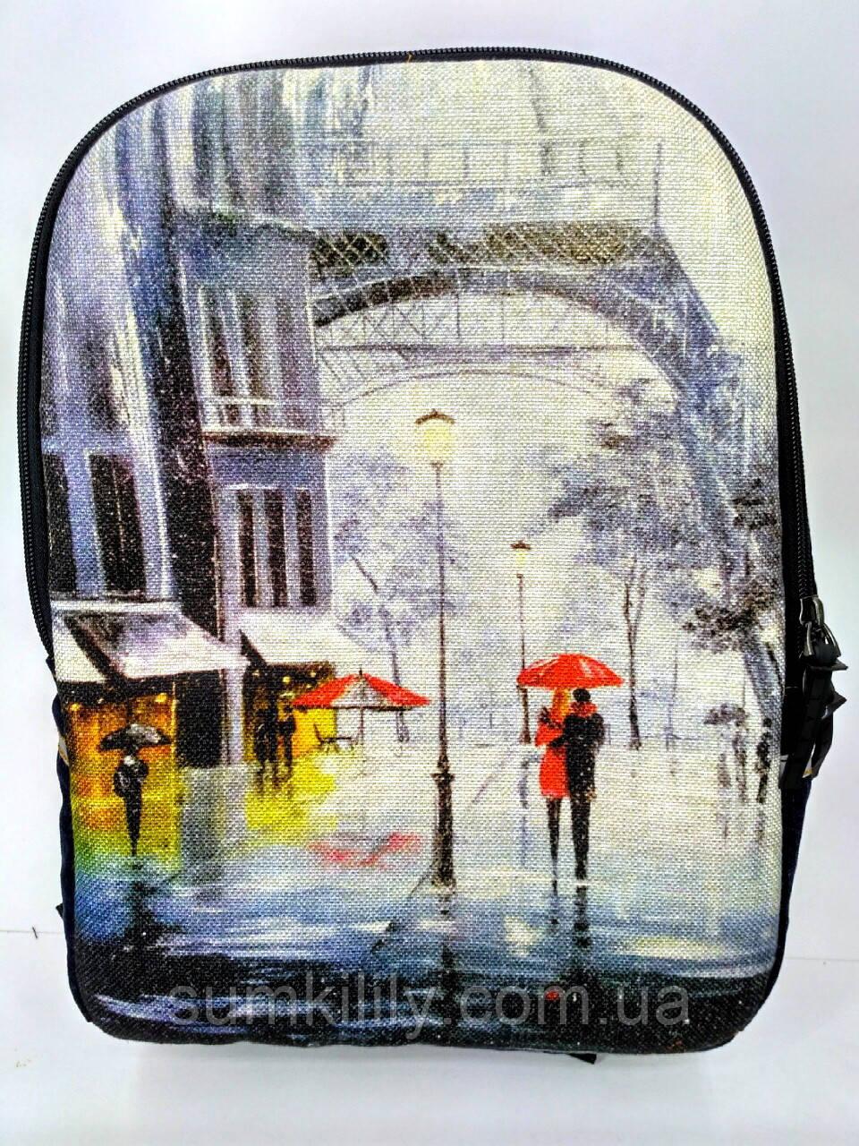 Джинсовый рюкзак Париж