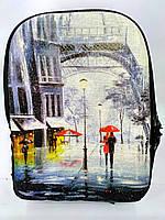 Джинсовый рюкзак Париж, фото 1