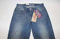 Подростковые джинсы для девочек, демисезонные голубые, размер 24