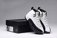 Баскетбольные кроссовки Nike Air Jordan 12 black-white, фото 1