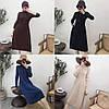 Расклешенное трикотажное платье 44-48 (в расцветках), фото 2
