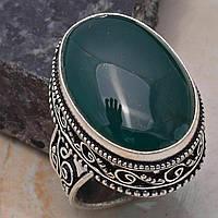 Красивейшее кольцо с  натуральным нефритом