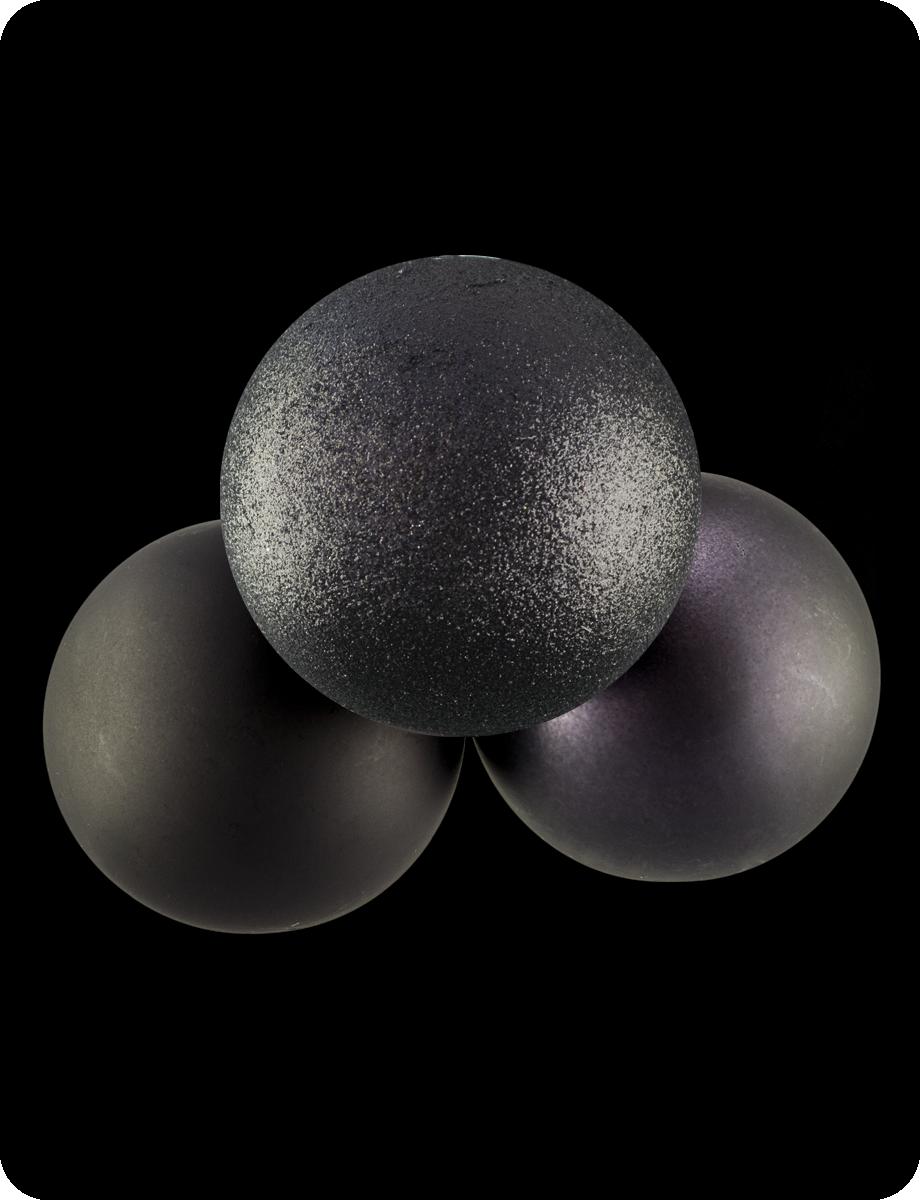 Шар диаметр 10см : черный глиттер, черный матовый, серый графит глиттер, серый графит матовый
