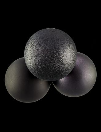 Шар диаметр 10см : черный глиттер, черный матовый, серый графит глиттер, серый графит матовый, фото 2
