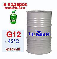 Антифриз красный TEMOL Antifreeze Luxe G12 Red бочка 200л/215 кг