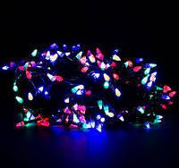 """Гирлянда светодиодная нить """"Конус"""" 17м, 400 led  черный провод - цвет разноцветный"""