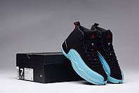 Баскетбольные кроссовки Nike Air Jordan 12 black-blue